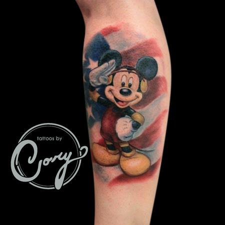 Mickey Mouse military tattoo Tattoo Design Thumbnail