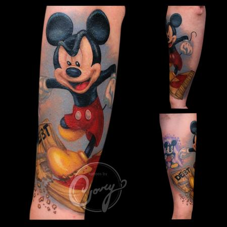 Tattoos - Mickey Mouse Stomping Debt - 100272