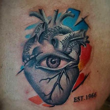 Tattoos - heart  - 129624