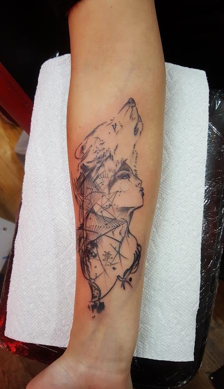 Tattoos - wolf - 132699