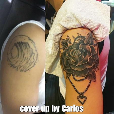 Tattoos - rose cover up - 132533