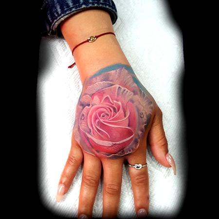 Tattoos - Pink Rose - 133598