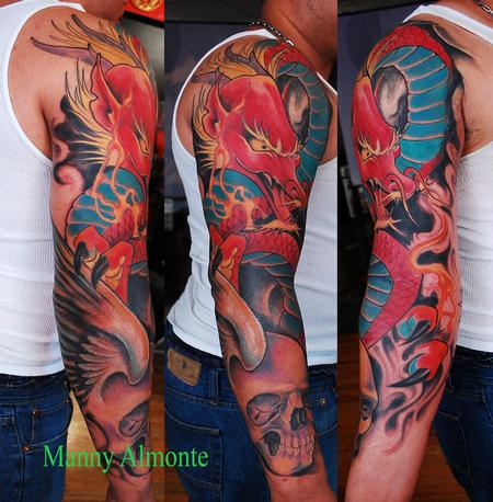 Tattoos - Red Dragon  - 79571
