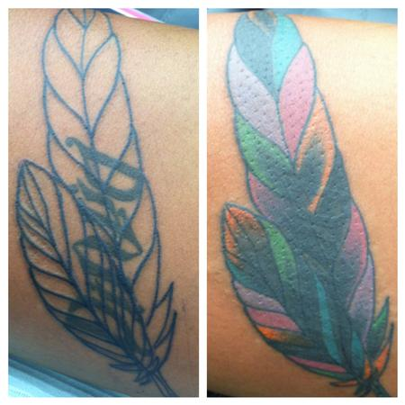 Tattoos - Feather Cover Up