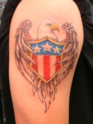 Eagle and shield Tattoo Design
