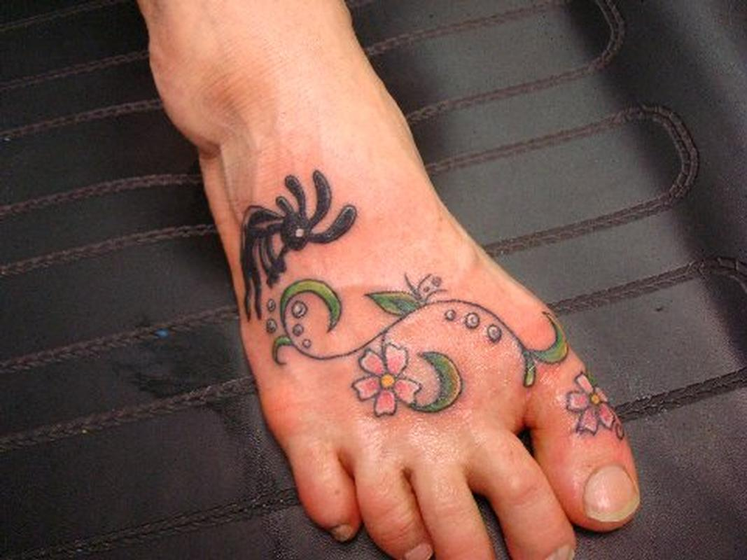 foot tattoo by julie tattoonow. Black Bedroom Furniture Sets. Home Design Ideas