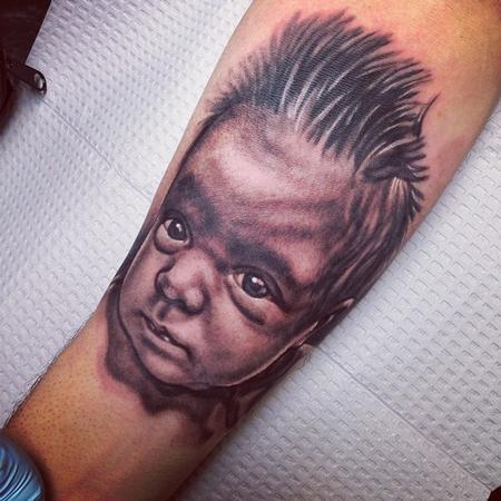 Tattoos - newborn portrait  - 84216