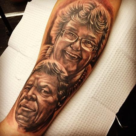 Tattoos - parents portrait  - 84212