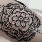 Blackwork Mandala Tattoo Design Thumbnail