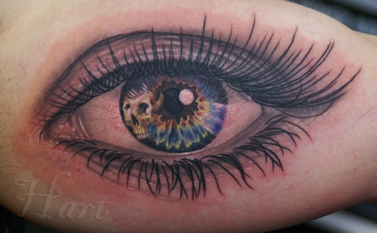 Looking to death by richard hart tattoonow for Eye tattoo art