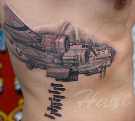 Large Image  B17 Bomber Tattoo