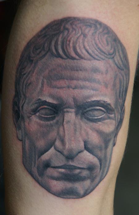 Julius Ceasar Black and Grey  Tattoo Design Thumbnail
