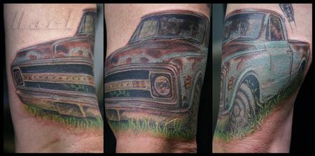 Richard Hart - Color Realistic Truck Tattoo