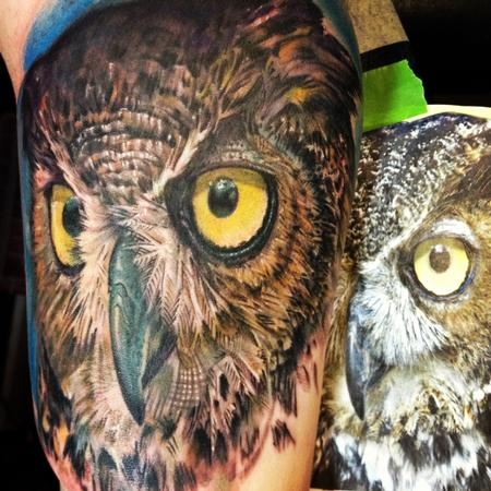 Duque Real- Owl Tattoo Design Thumbnail
