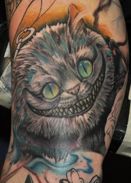 Cheshire Cat Tattoo Design Thumbnail