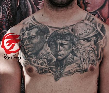 Roly Viruez - Puerto rican heritage tattoo