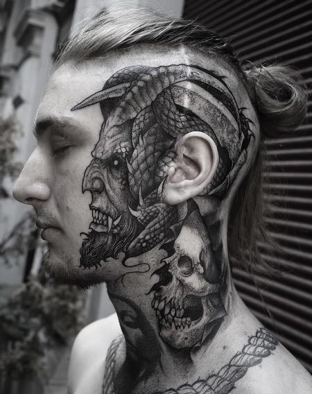Face Devil Tattoo Design