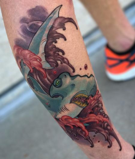 Tattoos - Red Waves  - 129712