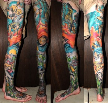Joshua Bowers - Leg collage