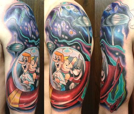 Joshua Bowers - Jetsons tattoo
