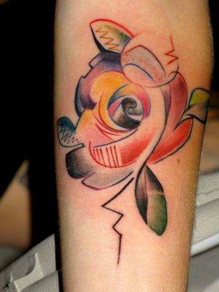 Abstract rose by marco ventura tattoonow for Abstract rose tattoo