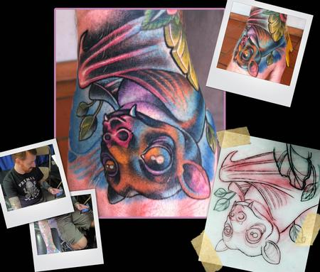 fruit bat hand tattoo Tattoo Design Thumbnail