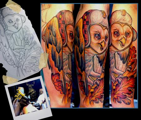 Scotty Munster - Barn Owl Tattoo