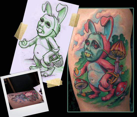 Easter Bunny Tattoo Tattoo Design Thumbnail