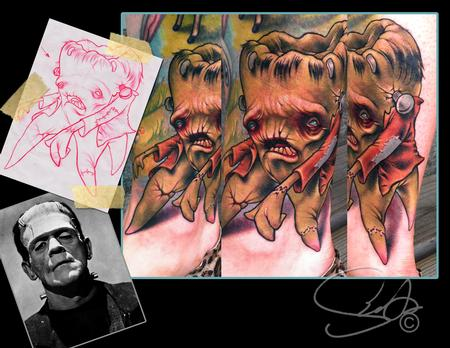 franken-tooth tattoo Tattoo Design Thumbnail
