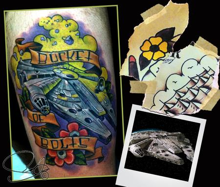 Scotty Munster - Millenium Falcon Tattoo