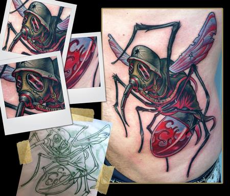 war mosquito tattoo Tattoo Design Thumbnail