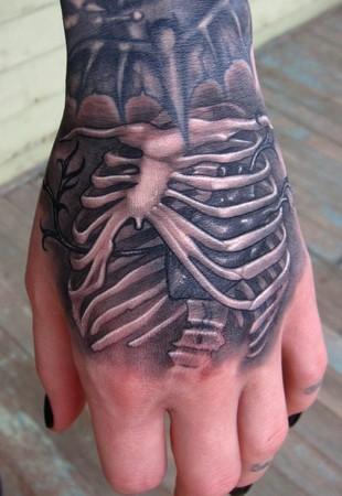 Skeleton Tattoo On Hands
