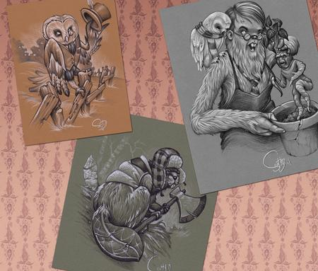 Scotty Munster - Owl, Bever, And Hairy Potter Sketches