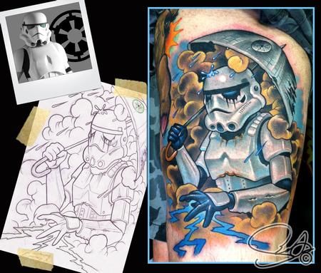 Star wars storm trooper tattoo by scotty munster tattoonow for Tattoo shops in st cloud mn