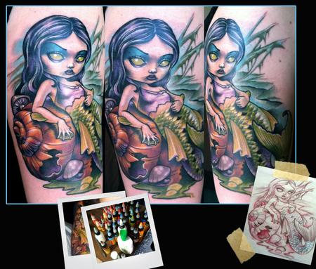 Scotty Munster - Swamp Mermaid Tattoo