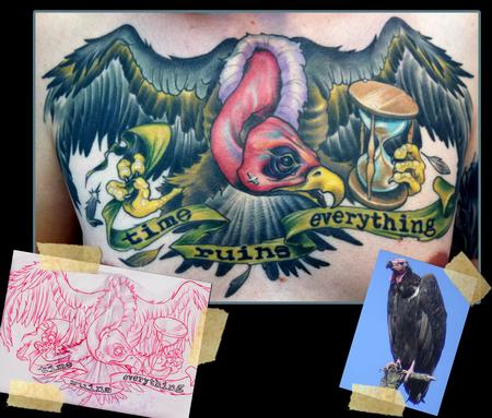 Vulture tattoo by scotty munster tattoonow for Tattoo shops in st cloud mn