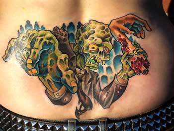 Tattoos - Sean Peters - Zombie Tramp Stamp