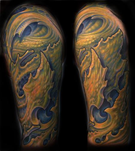 Bio Half Sleeve Tattoo Design Thumbnail