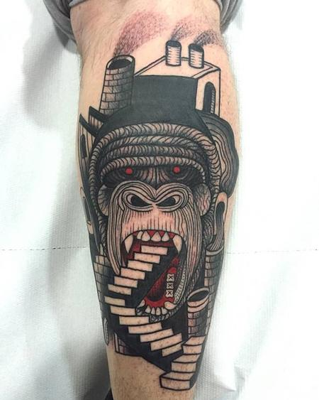 Tattoos - monkey building - 127104