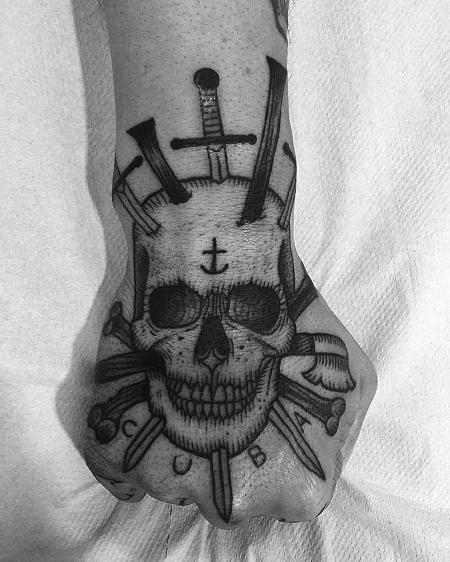 Tattoos - arm skull - 127114