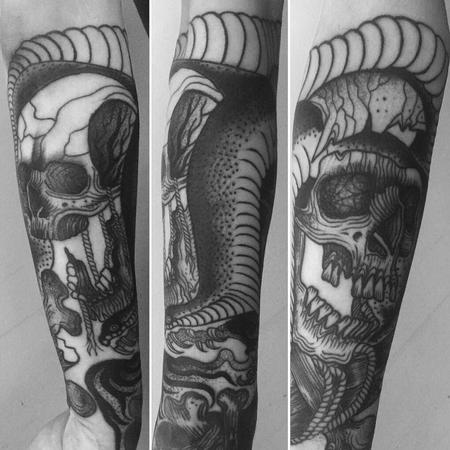 Tattoos - snake and skulls - 130717