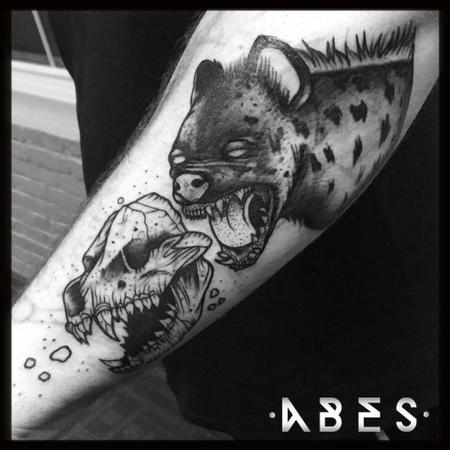 Tattoos - black hyena - 114947