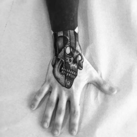 Tattoos - skully hand - 130725