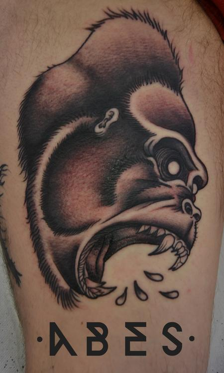 Tattoos - white gorilla - 96031