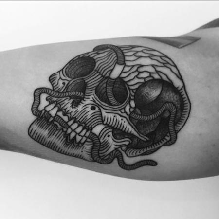 wormskull Tattoo Design Thumbnail