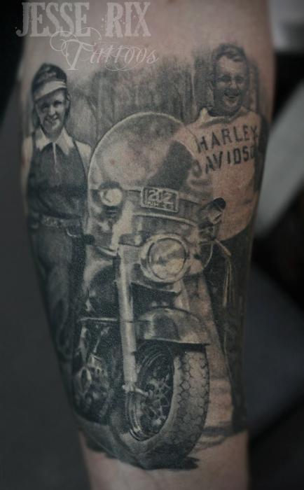 Vintage Harley Tattoo Tattoo Design Thumbnail