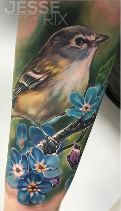 Bird Tattoo Tattoo Design Thumbnail