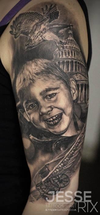 Jesse Rix - Portrait Tattoo
