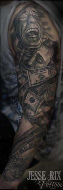 Jesse Rix - Gambling Tattoo