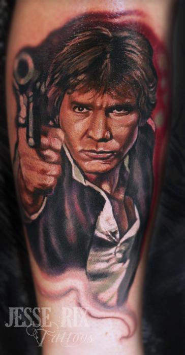Jesse Rix - Han Solo Tattoo